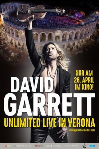 30. August - David Garrett: Unlimited - Live in Verona